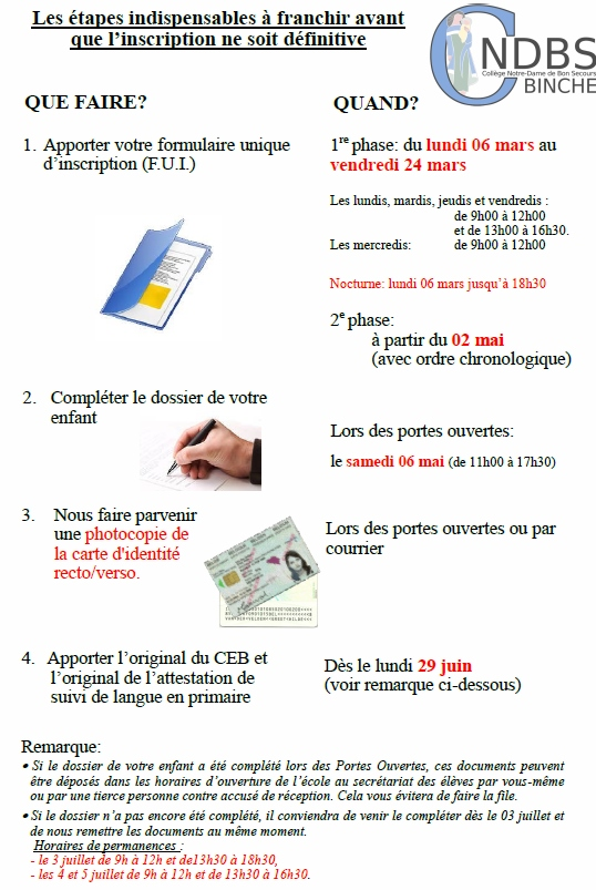 Procedure d'inscription