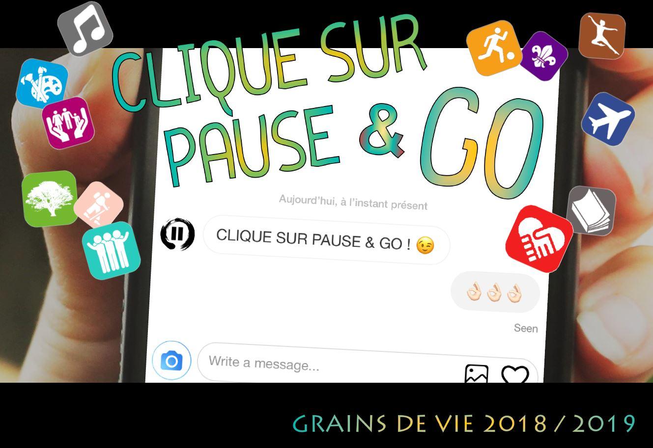 Texte de rentrée 2018 Clique sur pause