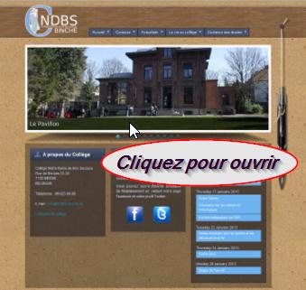 Allez  sur le site du Collège Notre-Dame de Bon Secours (établissement secondaire)!